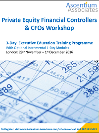 Ascentium Associates - Private Equity Financial Controllers  CFO workshop - executive training