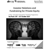 Investor Relations and Fundraising for Private Equity - Sao Paulo - Oct 2014