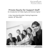 Private Equity for Support Staff - London - May 2017