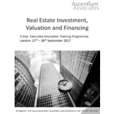 Real Estate Investment, Valuation and Financing - London - September 2017